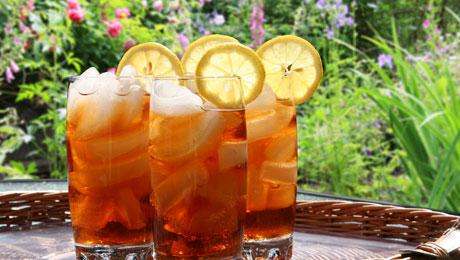 Ice tea από πράσινο τσάι