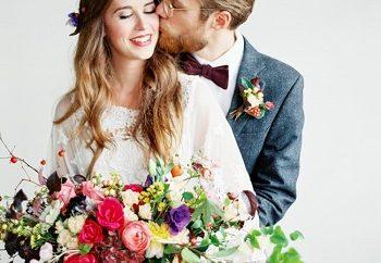 ρουστίκ Bohemian γάμος