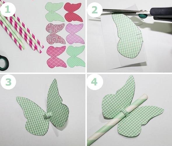 DIY πεταλούδες 7