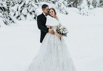 Γαμήλιες φωτογραφίες στα χιόνια
