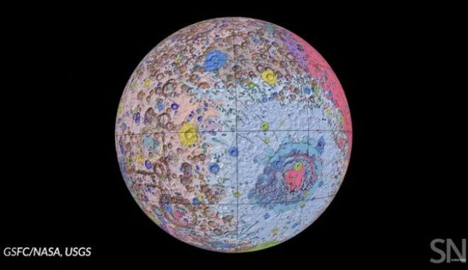 Γεωλογικός χάρτης της σελήνης